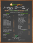 Soulgood Menu