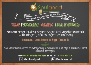 Soulgood Delivers Vegan and Vegetarian Food
